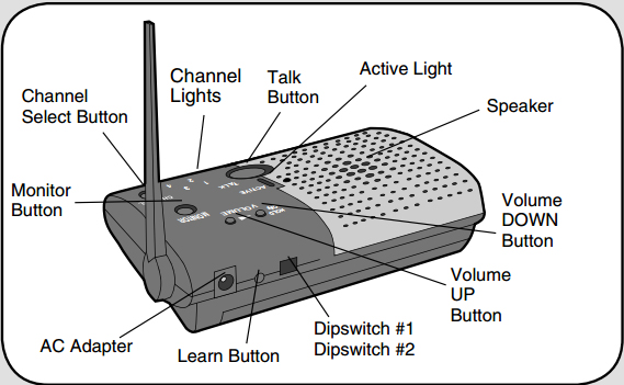 Chamberlain NLS2 Wireless Portable Intercom